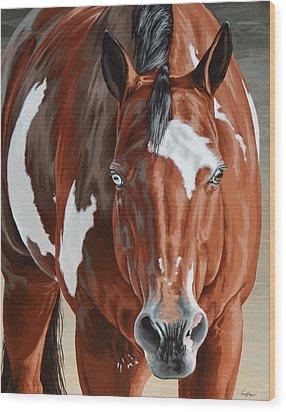 Apollo Wood Print by Lesley Alexander