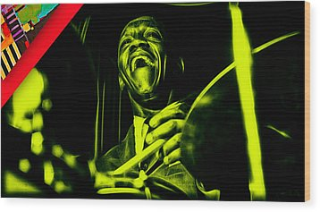 Art Blakey Collection Wood Print