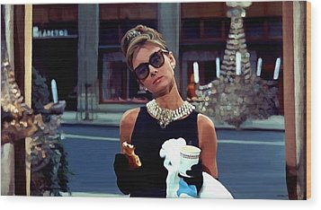 Audrey Hepburn @ Breakfast At Tiffanys Wood Print