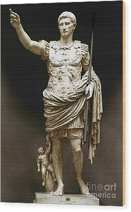 Augustus (63 B.c.-14 A.d.) Wood Print by Granger