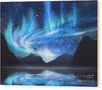 Aurora Borealis Wood Print by Setsiri Silapasuwanchai