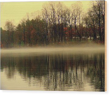 Autumn Lake Wood Print by Aron Chervin