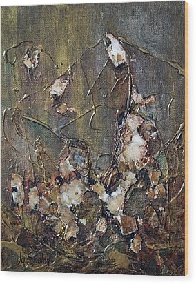 Wood Print featuring the painting Autumn Leaves by Joanne Smoley