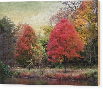 Autumn's Canvas Wood Print by Jessica Jenney