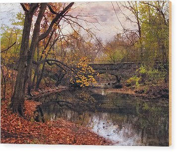 Autumn's Ending Wood Print by Jessica Jenney