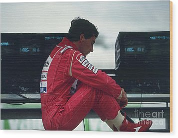 Ayrton Senna. 1992 French Grand Prix Wood Print