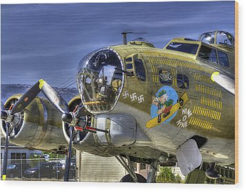 B-17 Wood Print by Joe  Palermo