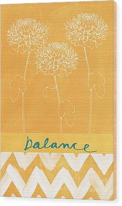 Balance Wood Print by Linda Woods