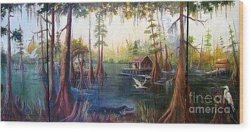 Barbara's Bayou Wood Print