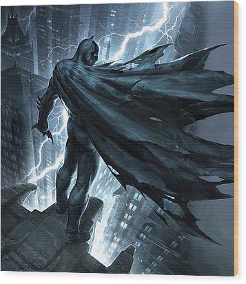 Batman The Dark Knight Returns 2012 Wood Print by Unknown
