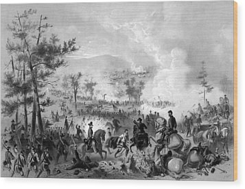 Wood Print featuring the drawing Battle Of Gettysburg by War Is Hell Store