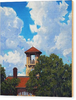 Bell Tower Wood Print by Kevin Lawrence Leveque