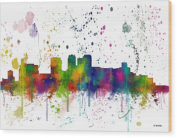Birmingham Alabama Skyline Wood Print by Marlene Watson
