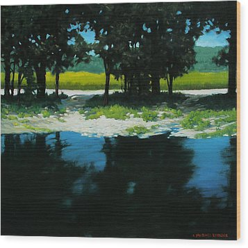Boat Launch Wood Print by Kevin Lawrence Leveque