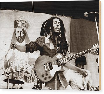 Bob Marley 1979 Wood Print by Chris Walter