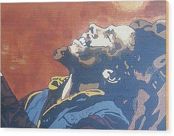 Bob Marley Wood Print by Rachel Natalie Rawlins