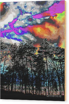 Bright Braddock Sunset Wood Print