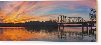 Browns Bridge Sunset Wood Print