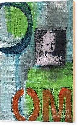 Buddha Wood Print by Linda Woods