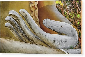 Wood Print featuring the photograph Buddha's Hand by Adrian Evans