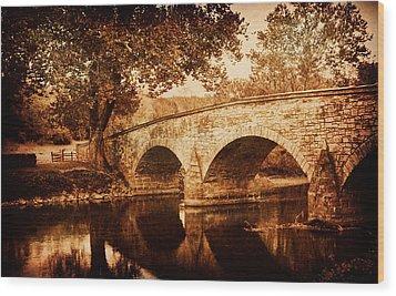 Burnside Bridge Wood Print by Mick Burkey