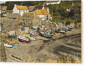 Wood Print featuring the photograph Cadgwith Cove by Brian Roscorla