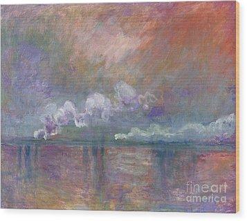 Charing Cross Bridge Wood Print by Claude Monet