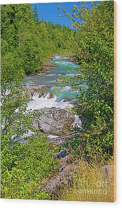 Wood Print featuring the photograph Cheakamus River by Sharon Talson