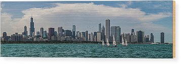 Wood Print featuring the photograph Chicago Skyline by Joel Witmeyer