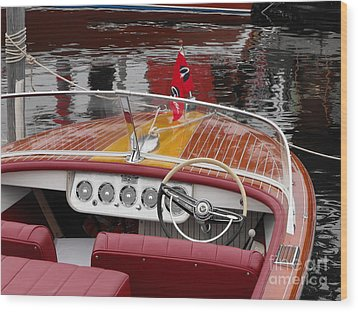 Chris Craft Wood Print