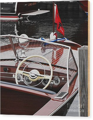 Chris Craft Utility Wood Print
