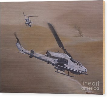 Close Air Support Wood Print by Stephen Roberson