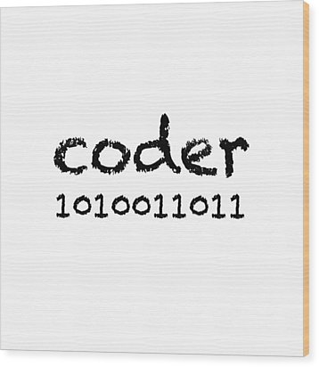 Coder Wood Print by Bill Owen