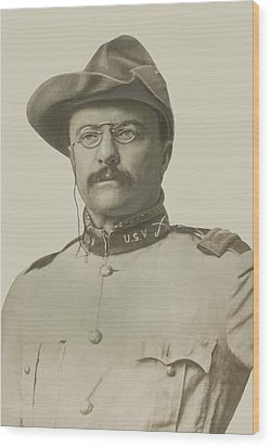 Colonel Theodore Roosevelt Wood Print by War Is Hell Store