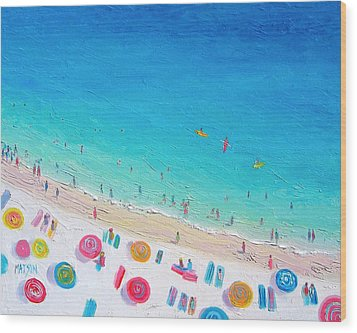 Colors Of The Beach Wood Print