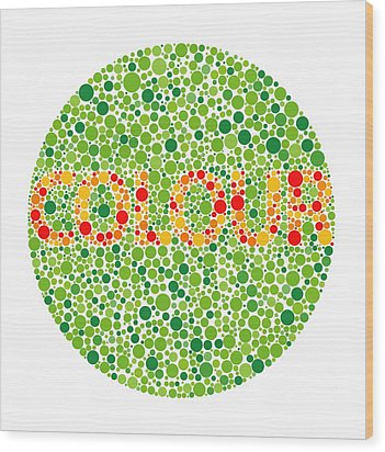 Colour Blindness Test Wood Print by David Nicholls