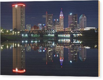 Columbus Ohio Wood Print by Frozen in Time Fine Art Photography