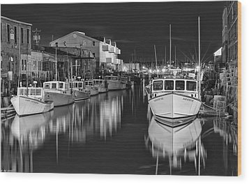 Custom House Wharf Wood Print