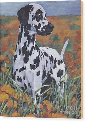 Wood Print featuring the painting Dalmatian by Lee Ann Shepard