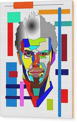 David Beckham Wood Print by Bogdan Floridana Oana