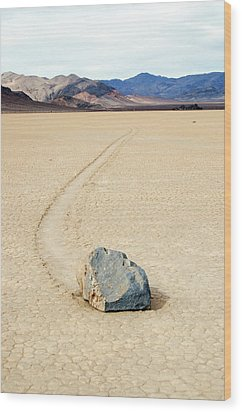 Death Valley Racetrack Wood Print by Breck Bartholomew