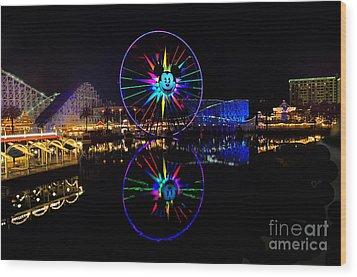 Disney California Adventure Mickey's Fun Wheel Wood Print