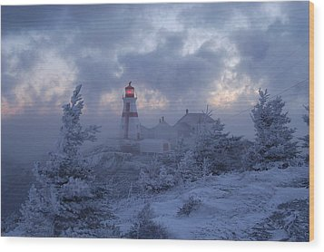 East Quoddy Lighthouse 36 Below Wood Print by Don Dunbar