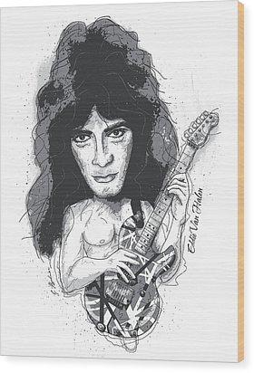 Eddie Van Halen Wood Print by Gary Bodnar