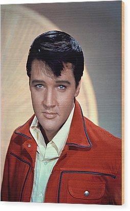 Elvis Presley Wood Print by Everett