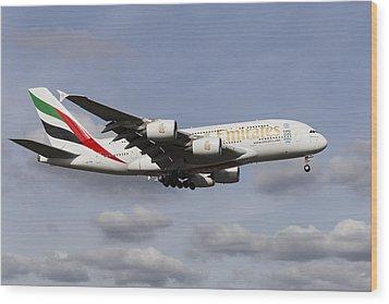 Emirates A380 Airbus Wood Print