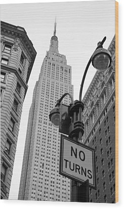 Wood Print featuring the photograph Empire State Building by Michael Dorn