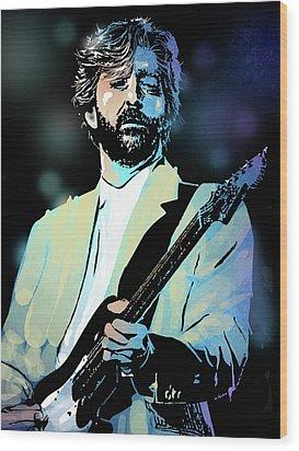 Eric Clapton Wood Print by Paul Sachtleben