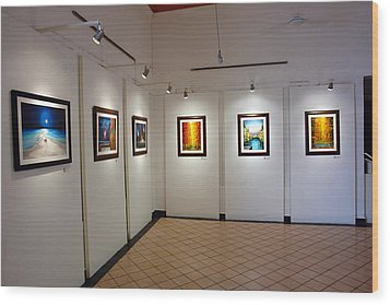 Exhibition Cozumel Museum Wood Print by Angel Ortiz