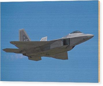 F-22 Raptor Wood Print